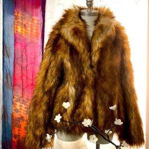 H&M cute faux fur jacket
